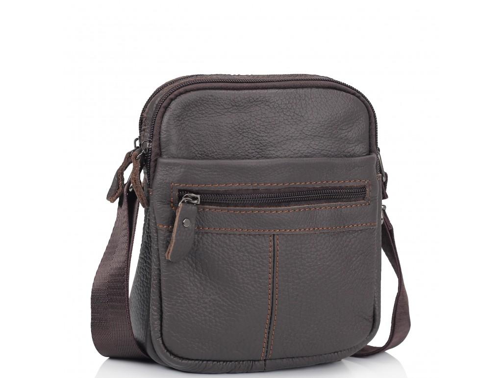 Сумка через плечо маленькая коричневая Tiding Bag NM20-1811DB - Royalbag Фото 1