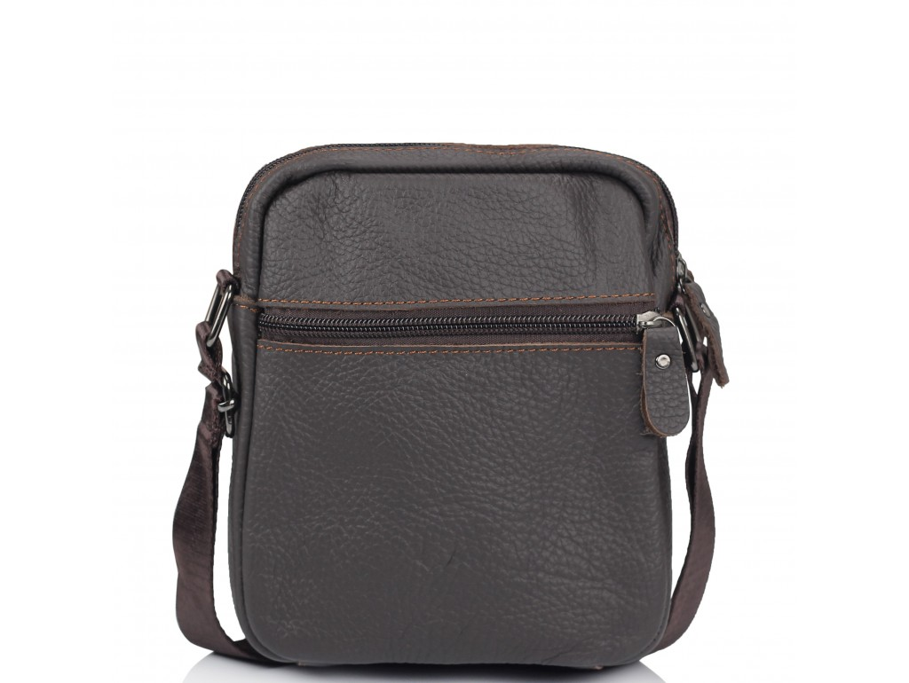 Сумка через плечо маленькая коричневая Tiding Bag NM20-1811DB - Royalbag