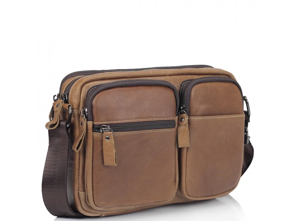Сумка через плечо коричневая Tiding Bag NM20-19702C - Royalbag Фото 1