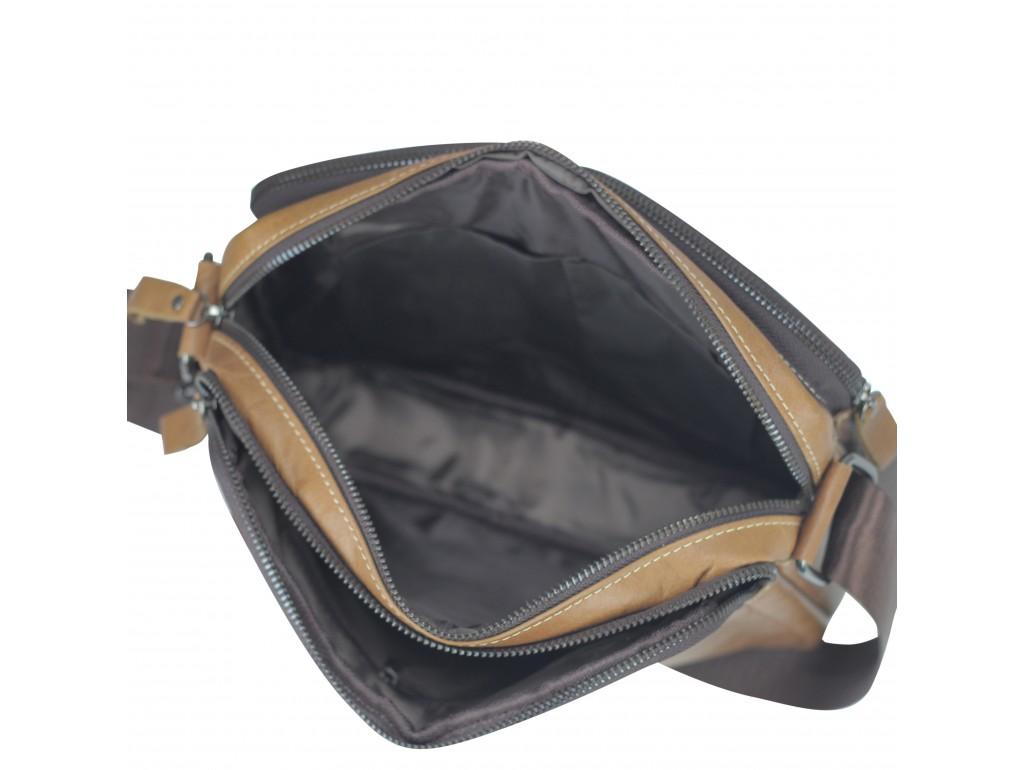 Сумка через плечо коричневая Tiding Bag NM20-19702C - Royalbag