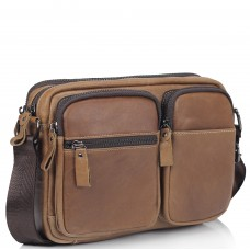 Сумка через плечо коричневая Tiding Bag NM20-19702C - Royalbag Фото 2