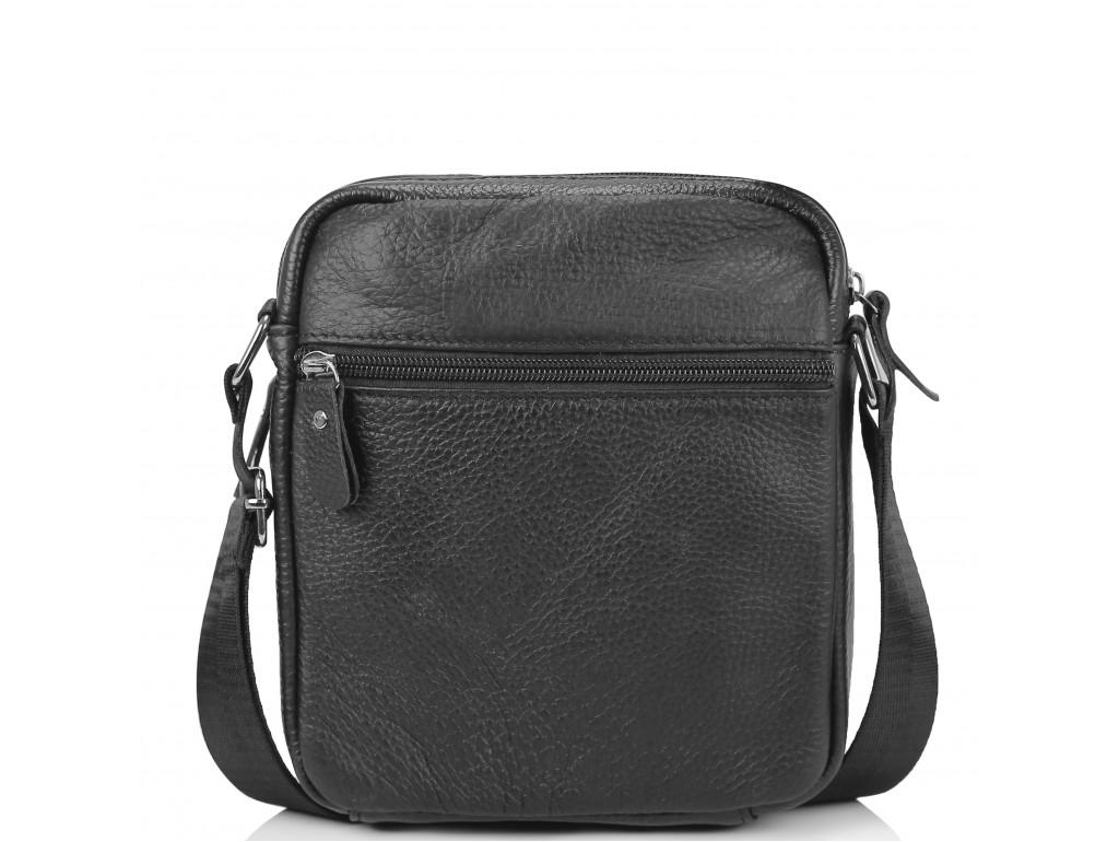Небольшая кожаная сумка через плечо черная Tiding Bag NM20-2610A - Royalbag