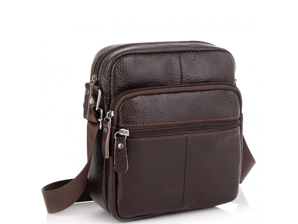 Коричневая мужская сумка Tiding Bag NM20-2610DB - Royalbag Фото 1