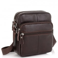Коричневая мужская сумка Tiding Bag NM20-2610DB - Royalbag