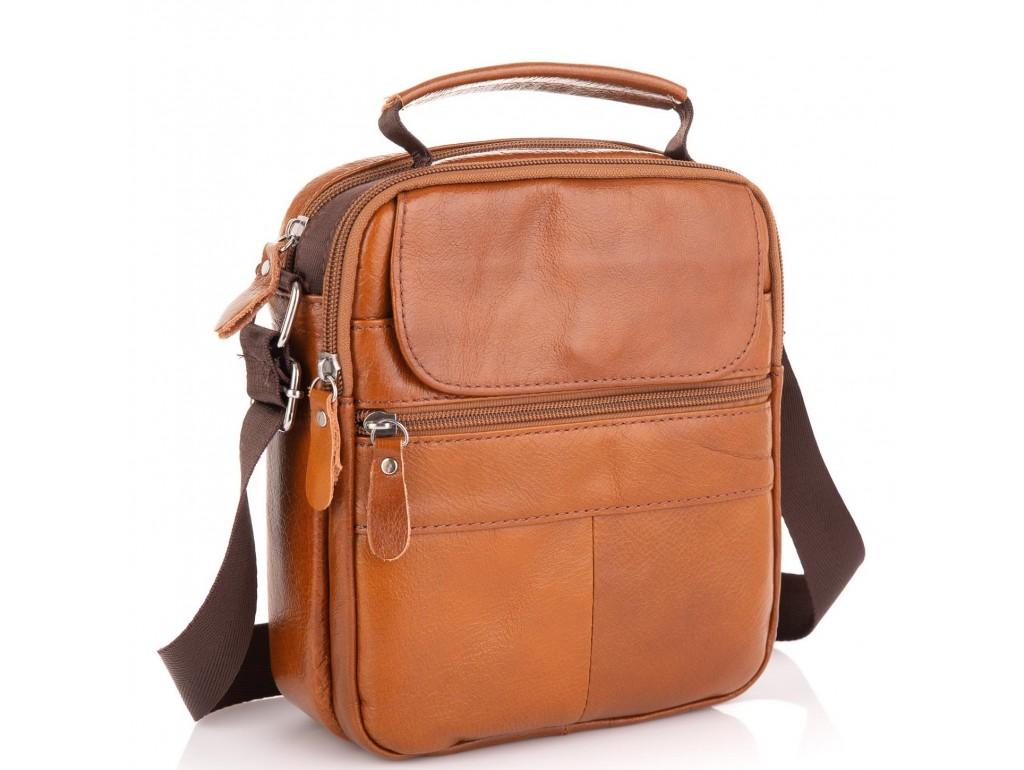Коричневая мужская сумка через плечо Tiding Bag NM20-2611C - Royalbag Фото 1