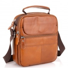 Коричневая мужская сумка через плечо Tiding Bag NM20-2611C - Royalbag Фото 2