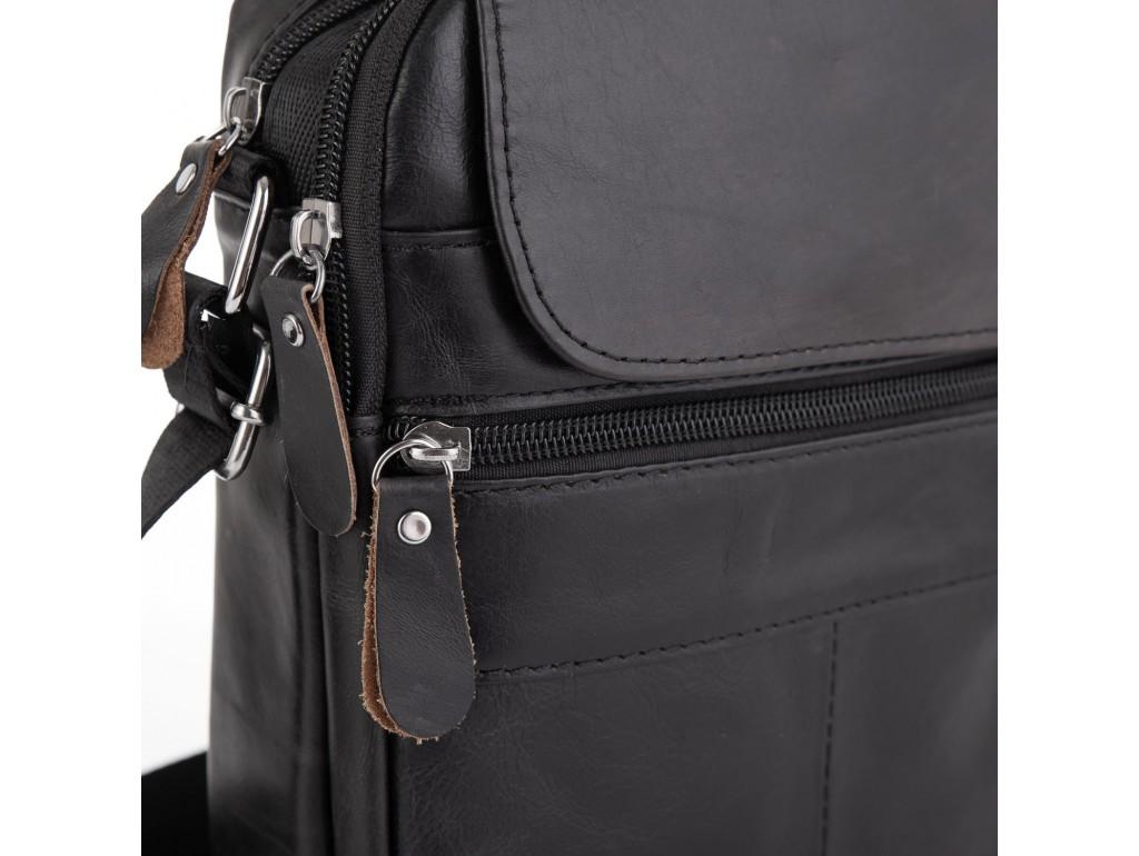 Черная мужская сумка-мессенджер Tiding Bag NM20-6021A - Royalbag