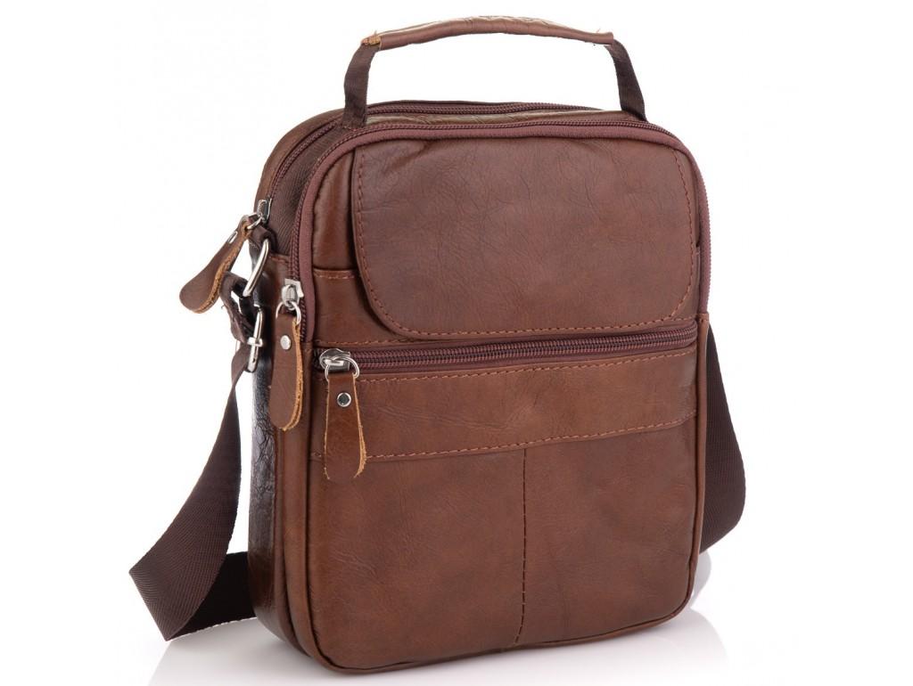 Коричневая мужская сумка-мессенджер Tiding Bag NM20-6021C - Royalbag Фото 1