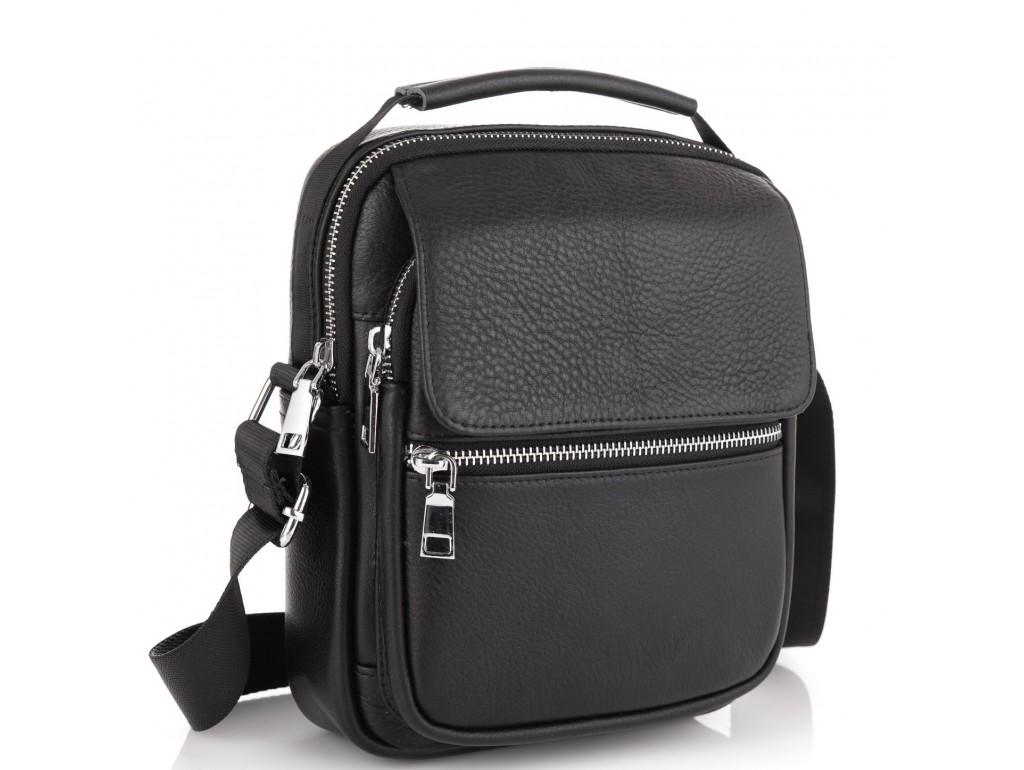 Мужская сумка через плечо кожаная Tiding Bag NM23-2302A - Royalbag Фото 1