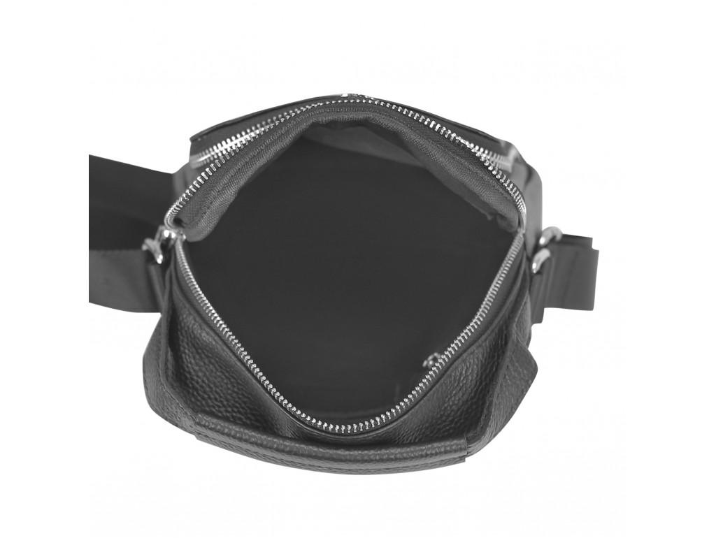 Мужская сумка через плечо черная с ручкой Tiding Bag NM23-2304A - Royalbag