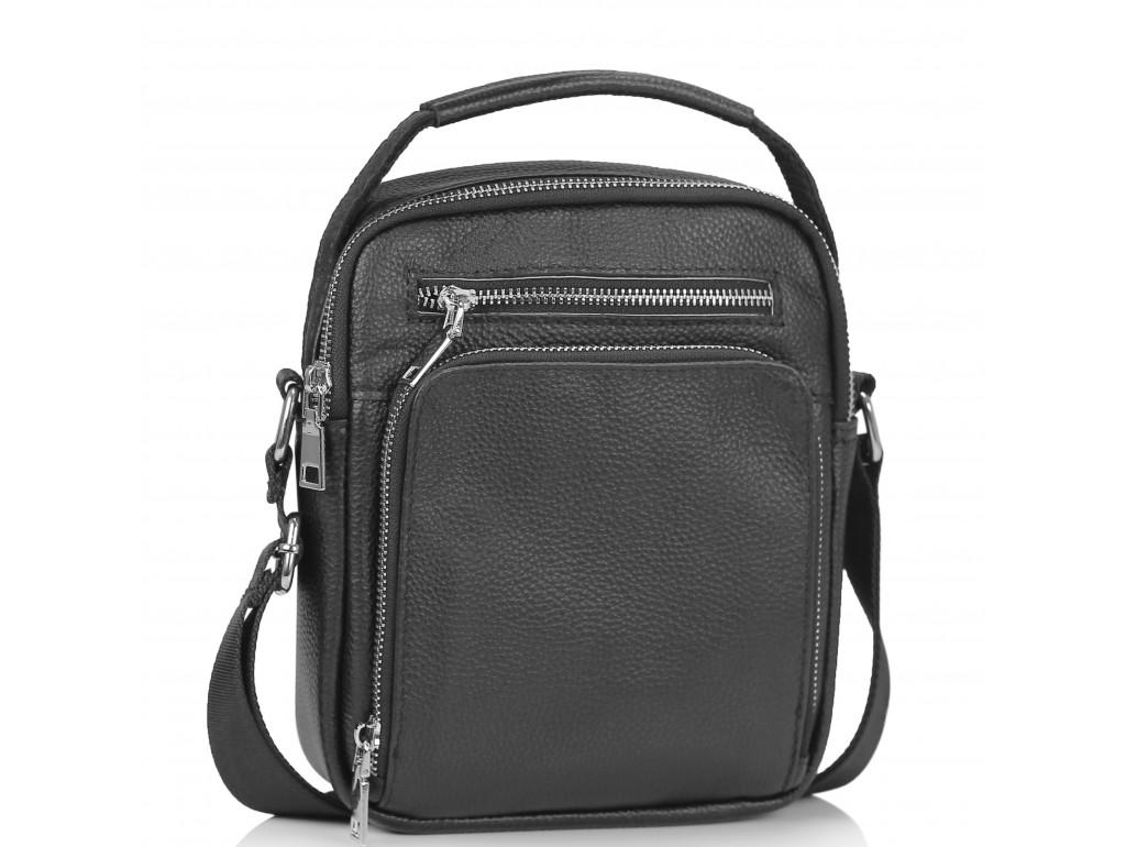 Мужская сумка через плечо черная с ручкой Tiding Bag NM23-2304A - Royalbag Фото 1