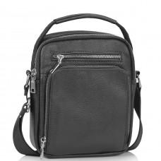 Мужская сумка через плечо черная с ручкой Tiding Bag NM23-2304A - Royalbag Фото 2