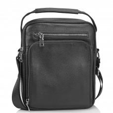 Мужская сумка-мессенджер через плечо черная Tiding Bag NM23-2305A - Royalbag Фото 2