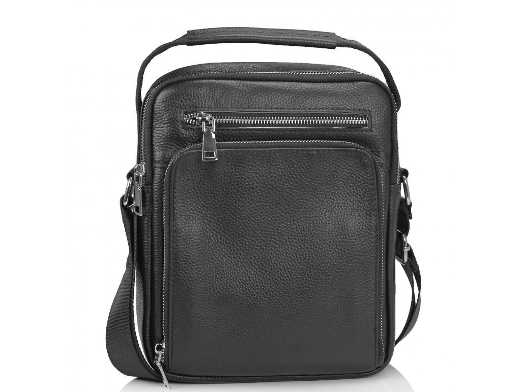 Мужская сумка-мессенджер через плечо черная Tiding Bag NM23-2305A - Royalbag Фото 1