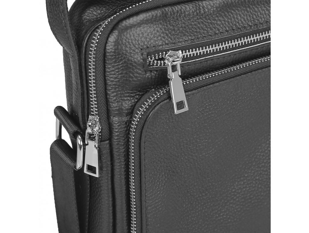 Мужская сумка-мессенджер через плечо черная Tiding Bag NM23-2305A - Royalbag