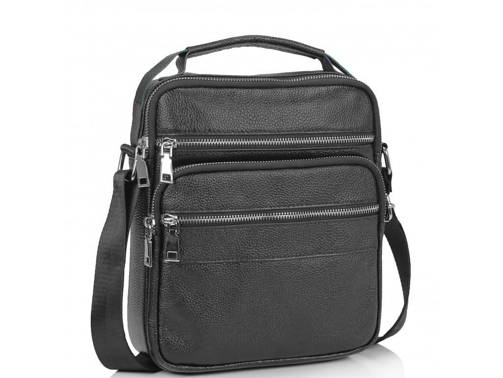 Мужская кожаная сумка через плечо мессенджер Tiding Bag NM23-2306A - Royalbag Фото 1