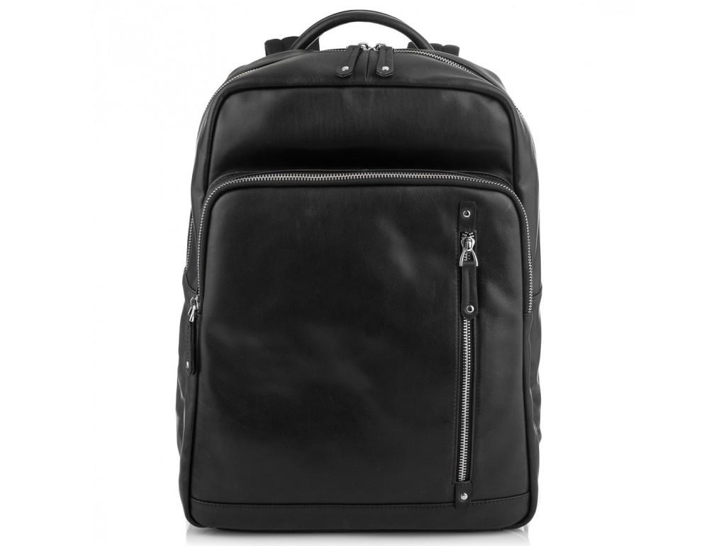 Стильный кожаный мужской рюкзак черного цвета Tiding Bag NM29-5073BA - Royalbag