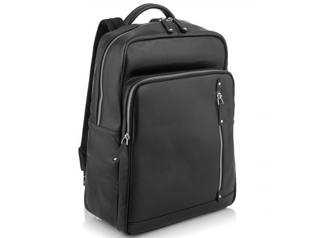 Стильный кожаный мужской рюкзак черного цвета Tiding Bag NM29-5073BA - Royalbag Фото 1