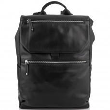 Мужской кожаный рюкзак черный Tiding Bag NM29-88066A - Royalbag