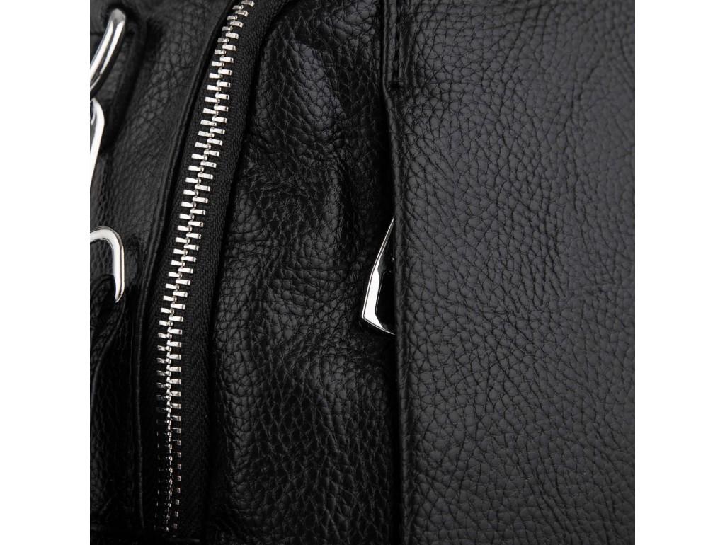 Женский черный кожаный рюкзак Olivia Leather NWBP27-002A - Royalbag