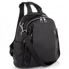 Жіночий чорний шкіряний рюкзак Olivia Leather NWBP27-002A - Royalbag