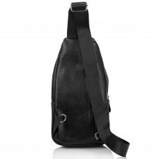 Мужской кожаный черный слинг на плечо Tiding Bag A25F-6601A - Royalbag