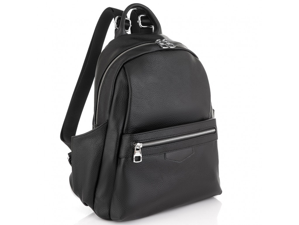 Женский черный кожаный рюкзак Olivia Leather NWBP27-007A - Royalbag Фото 1