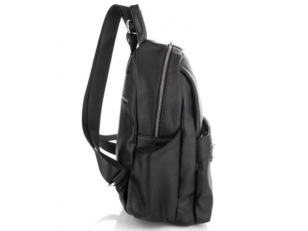 Женский черный кожаный рюкзак Olivia Leather NWBP27-007A - Royalbag
