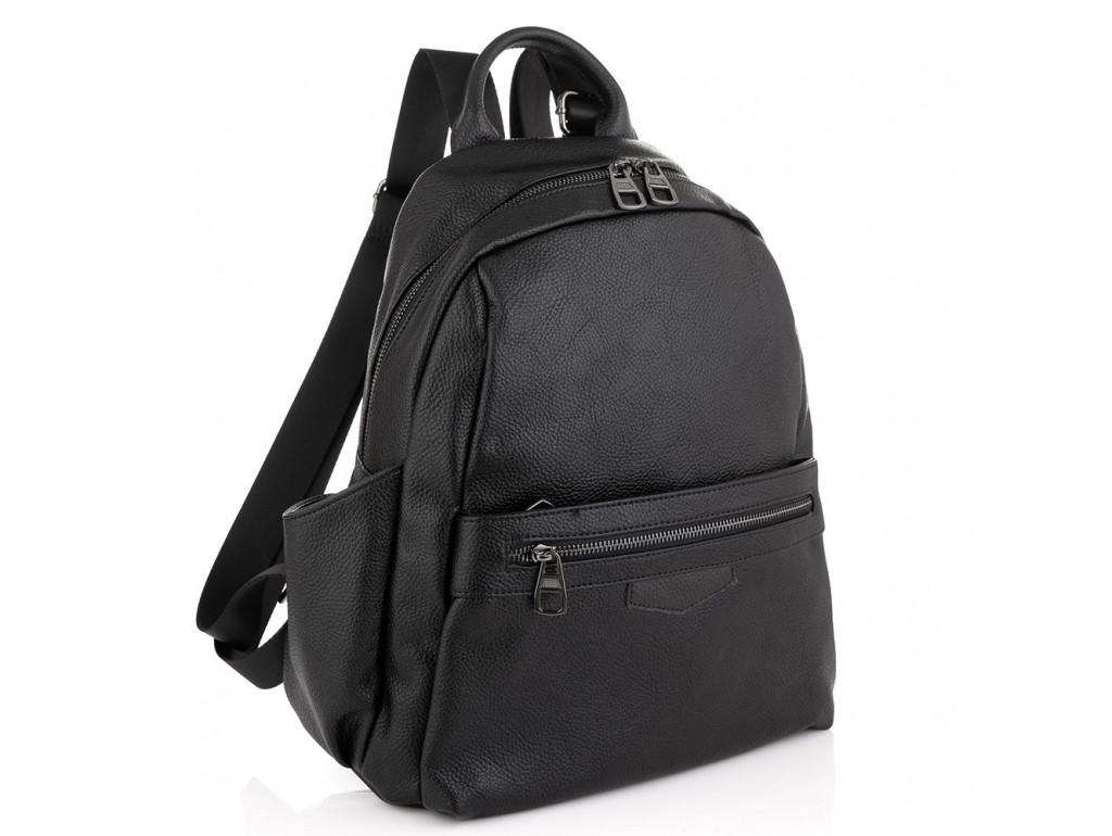 Жіночий шкіряний рюкзак чорний Olivia Leather NWBP27-009A - Royalbag Фото 1