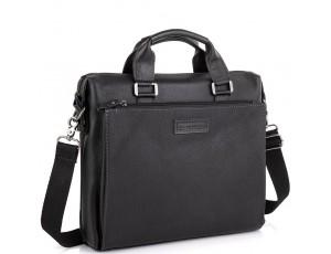 Кожаная черная сумка для ноутбука Allan Marco RR-4102A - Royalbag