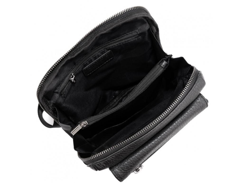 Мужской кожаный мессенджер в черном цвете Tavinchi S-005A - Royalbag