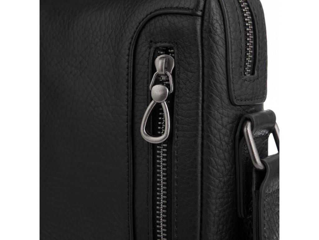 Сумка-мессенджер через плечо в черном цвете Tavinchi S-007A - Royalbag