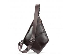 Слинг из натуральной кожи коричневый Tiding Bag S-TB-001C - Royalbag