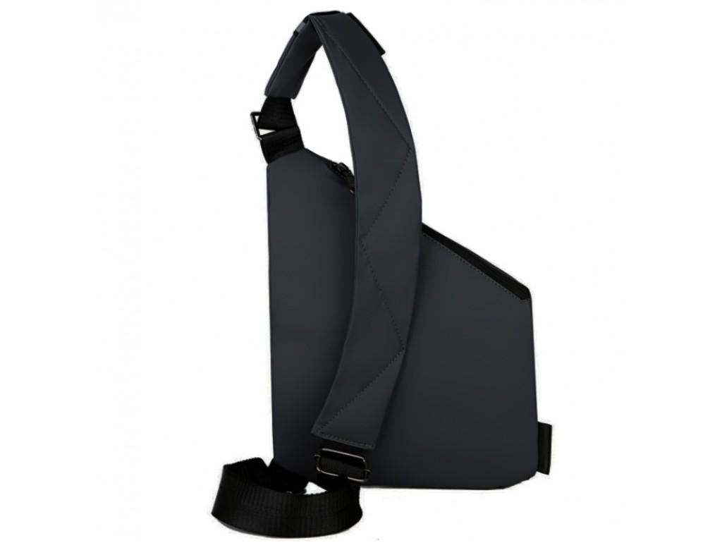 Мужской тканевый слинг через плечо черный Tiding Bag S1-001A - Royalbag