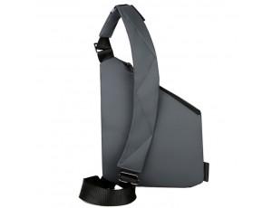 Мужской тканевый слинг через плечо серый Tiding Bag S1-001G - Royalbag