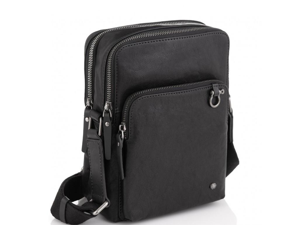 Сумка через плече шкіряна чорна Tiding Bag SM13-0014A - Royalbag Фото 1