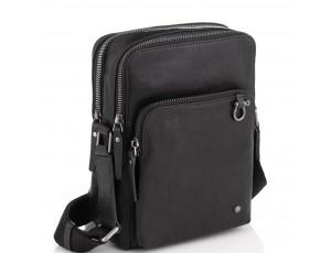 Сумка через плече шкіряна чорна Tiding Bag SM13-0014A - Royalbag