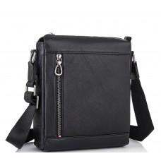 Чоловіча шкіряна сумка через плече чорна Tiding Bag SM8-005A - Royalbag