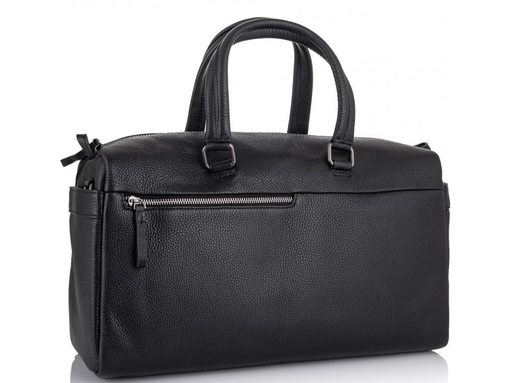 Дорожная кожаная сумка прочная тревел бег черная Tiding Bag SM8-014A - Royalbag Фото 1
