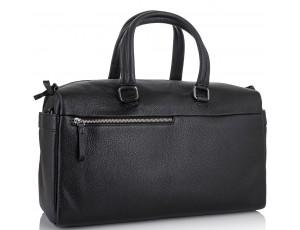 Дорожная кожаная сумка прочная тревел бег черная Tiding Bag SM8-014A - Royalbag