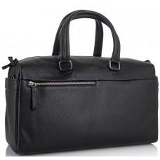 Дорожная кожаная сумка прочная тревел бег черная Tiding Bag SM8-014A - Royalbag Фото 2