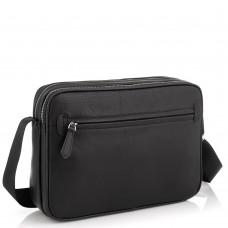 Горизонтальная почтальонка через плечо кожаная Tiding Bag SM8-018A - Royalbag Фото 2