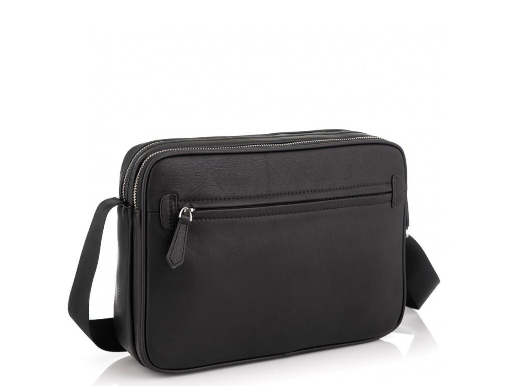 Горизонтальная почтальонка через плечо кожаная Tiding Bag SM8-018A - Royalbag Фото 1