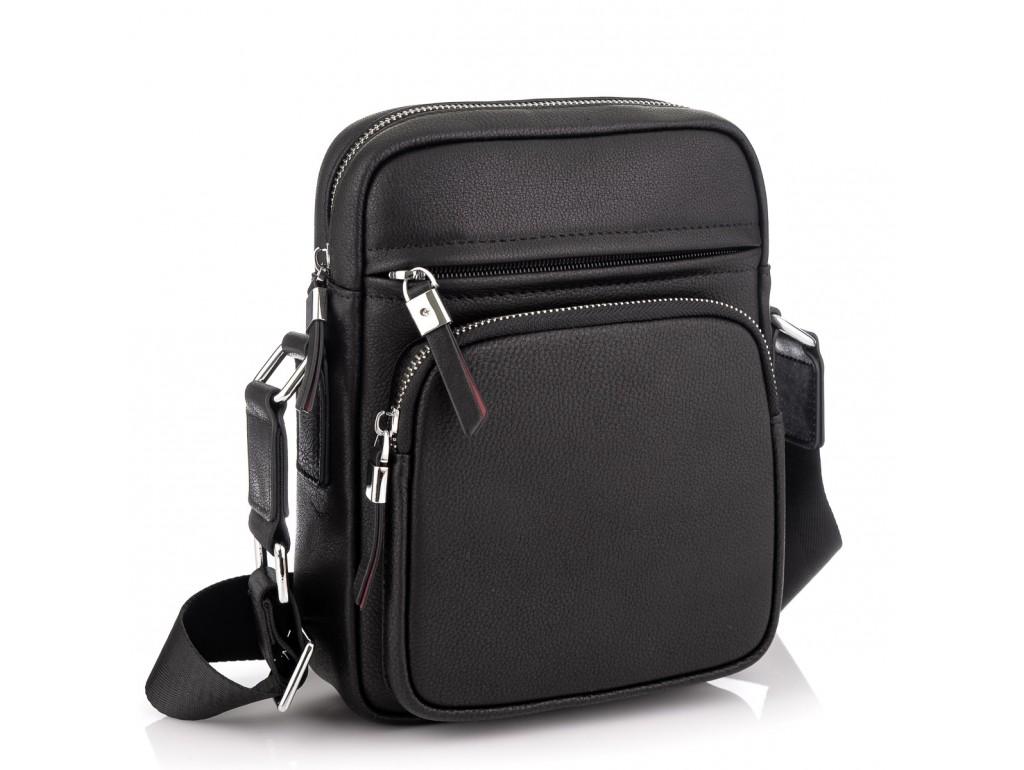 Кожаная стильная сумка-мессенджер через плечо Tiding Bag SM8-1022A - Royalbag Фото 1