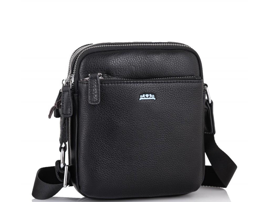Мужская кожаная сумка через плечо черная Tiding Bag SM8-138-1A - Royalbag