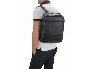 Мужской кожаный черный рюкзак для ноутбука Tiding Bag SM8-183A - Royalbag