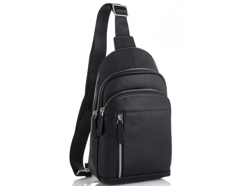 Мужской кожаный рюкзак на одно плечо Tiding Bag SM8-811A - Royalbag Фото 1