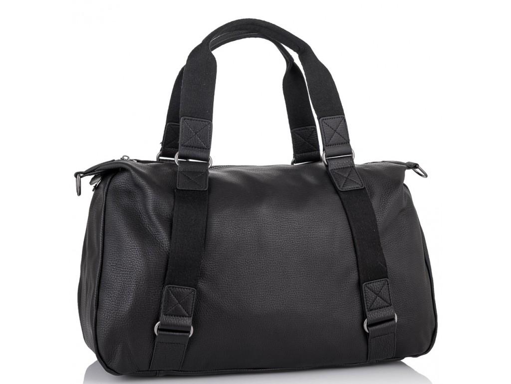 Мужская дорожная кожаная черная сумка для командировок Tiding Bag SM8-8149A - Royalbag Фото 1