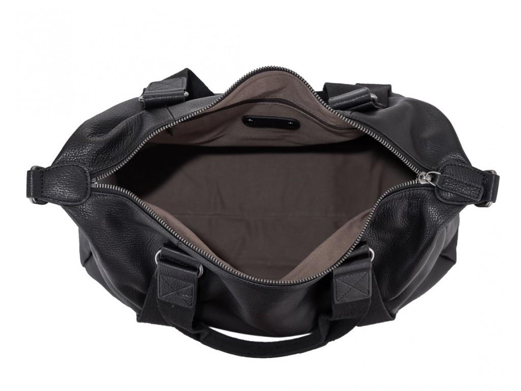 Мужская дорожная кожаная черная сумка для командировок Tiding Bag SM8-8149A - Royalbag