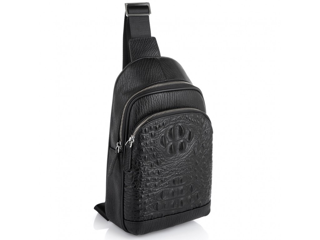 Мужская сумка-слинг через плечо натуральная кожа Tiding Bag SM8-818A - Royalbag Фото 1
